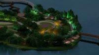 PS亮化教程-湖岛亮化-植物灯光亮化02