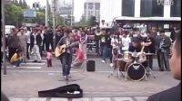 五一上海 东方明珠 上海外滩 流浪歌手