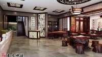 苏州某红木家具展厅中式装修设计案例2014最新
