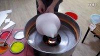 日彩花式棉花糖机器艺术棉花糖机彩色棉花糖机