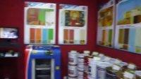 江南富安居-史帝森浅浮雕艺术背景墙-立邦漆专卖店展示区