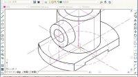 机械制图--根据轴侧图绘制简单轴侧剖视图
