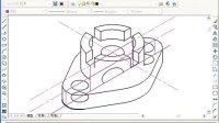 机械制图--根据二视图绘制复杂轴侧剖视图