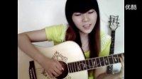 高密吉他 果木吉他培训学校 美女教师 弹唱董小姐