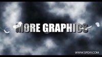 [AE模板]在乌云和闪电中的字幕模板