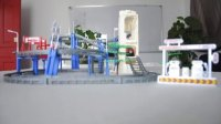 奋铭大型三层电动升降轨道车电动玩具儿童玩具益智轨道