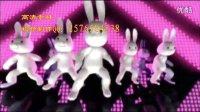 兔子舞 舞蹈酒吧KTV舞台大众舞演出led背景视频素材
