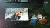 A0070 8090男孩女孩童话爱情成长恋爱历程创意婚礼相册AE模板