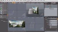 MattePainting景观动画教程-16.将PS图层导入至MODO
