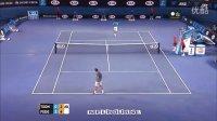 澳网球童跟费德勒干上了。。。Federer ball kid catch (again) - 2014 Australian Open