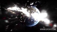 [AE模板]地球爆炸后在立体城市中图片媒体展示模板(含音频)