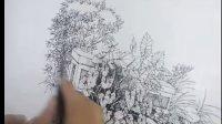 手绘教程  钢笔画 马克笔线稿 福州海派手绘培训机构