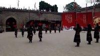 西安城墙古代武士换岗仪式1