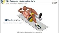 初学者练习交替扭转卷腹 - 标准动作与呼吸 高清三维演示