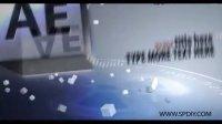 [AE模板]三维立方体的图片字幕展示模板(含音频)