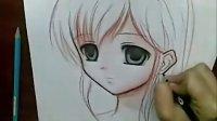 超强手绘漫画画法全过程--水彩铅笔画动漫人物画法【大姨妈】