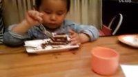 快乐的贝贝29 必胜客的黑森林蛋糕