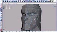 卓越视界-文卫军-MAYA标准视频教程-多边形建模-野蛮人06——脸部布线d