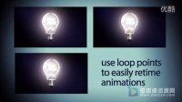 灯泡素材白炽灯展示3D透明环保节能宣传AE模板
