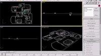 3编辑线条与挤压室内框架室内3D效果图制作高清视频教程