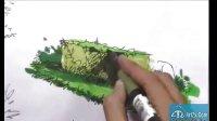 福建在线手绘-------园林小品上色