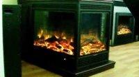 四面火焰电壁炉;3面观火壁炉;伏羲壁炉定制案例;两面假火壁炉