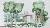 庐山谢宗涛老师手绘视频园林景观马克笔表现