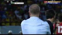 足球热身赛:中国男足VS巴西男足 上半场