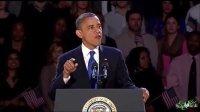 奥巴马12年就职演讲 秀恩爱感谢米歇尔