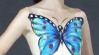 裸模上演人体彩绘秀