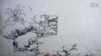 福建福州景观手绘效果图钢笔画表现 农林大学