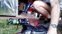 双排轮滑修理 更换轮子 雷达禅阻拦赛轮滑鞋