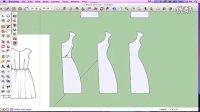 SketchUp 建模教程-裙子制作方法视频