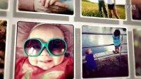照片图片汇聚拼成文字字母婚礼家庭写真相册展示AE模板!