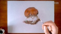 超逼真3D写实蘑菇写实绘画教程
