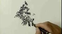 手绘教程树的画法3