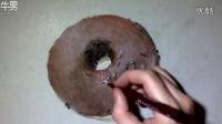 手绘逼真巧克力甜甜圈——延时摄影