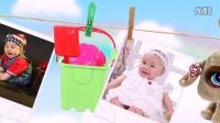 T006 晾衣绳上的玩具 电子相册制作 宝宝满月 周岁生日 儿童成长