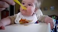 尊龙国际搞笑宝宝吃东西都要睡着了