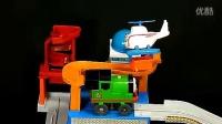 英文版托马斯和他的朋友小火车轨道电动火车头套装玩具采石场