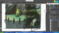 游戏原画场景的质感表现-名动漫插画原画教程手绘板教程