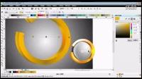 CorelDRAW设计圆形立体标志