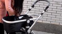 凯斯瑞尔婴儿手推车分体式睡篮拆卸安装视频