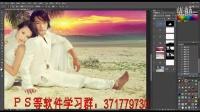 ps教程ps学习ps视频ps调色ps手绘ps抠图【影楼后期-紫红外景婚片