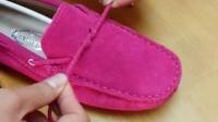 豆豆鞋真皮鞋带蝴蝶结