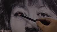 2014中央美院 美术高考 北京画室 于萍素描头像 女中年