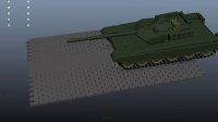houdini和maya制作tank履带动画