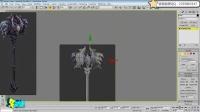 3D暗黑武器制作_建模1-名动漫三维3Dmax角色模型教程