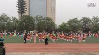 陕西师范大学金泰丝路花城学校亲子运动会幼儿园大班团体操:帽舞春天