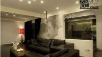 沙发背景墙是亮点 白色现代感混搭三居 装修效果图齐家网